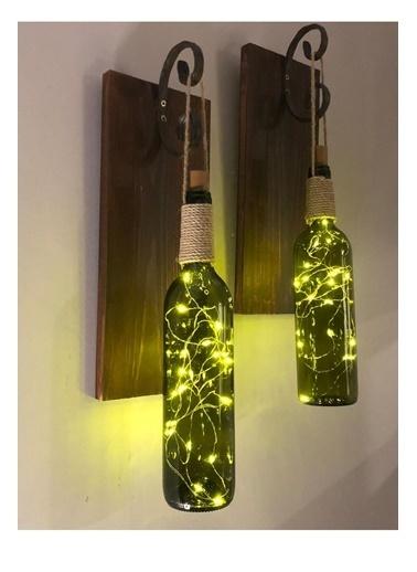 Mes Reves Design Mes Reves Design 2'li Set Led Işıklı Duvar Aplik Kahve